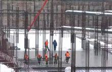 Строительство стадиона ЦСКА, зима 2013.