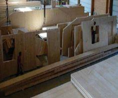 Твердотельная панель из клееных волокон древесины